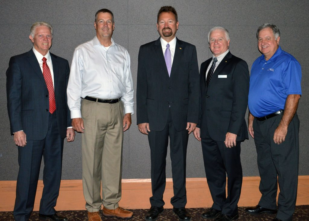 First Vice President Ed Tillery (Whitebead); Second Vice President Mike Ray (Guymon); President Roger Edenborough (Goodwell); Past President Mike Mullins (Sand Springs); President-Elect Don Tice (Oologah-Talala)
