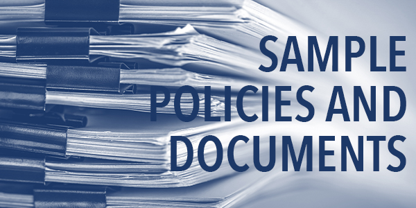 Sample Policies and Documents